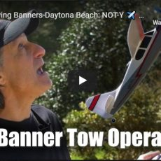 Pilot Towing Banners-Daytona Beach: NOT-Y pilot runs off runway and almost crashes
