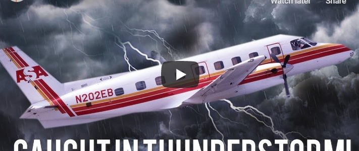 Plane Caught in Thunderstorms while flying passengers: NOT-Y