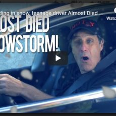 Car skidding in snow, teenage driver Almost Died : Snowstorm – New York : NOT-Y